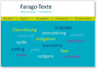 Language services of Farago Texte, editing services, translation